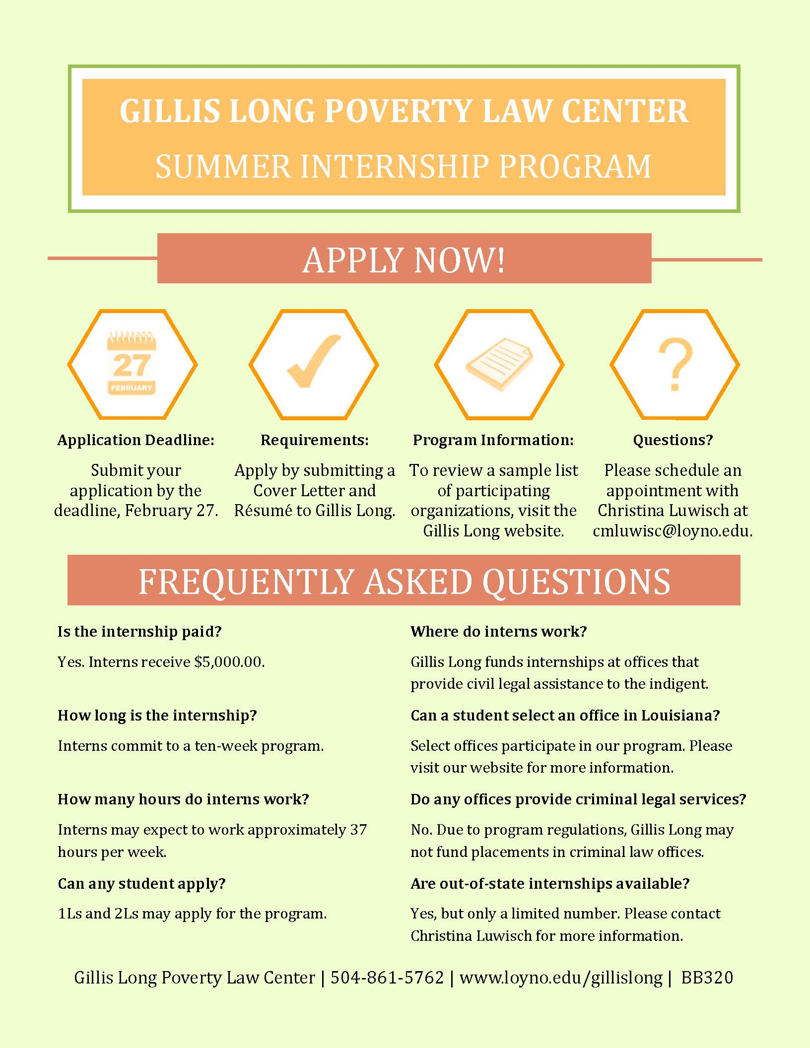 summer internship guidelines You may complete an internship during the spring, summer, or fall semesters  there is no tuition cost to do a summer internship for credit for undergraduate.