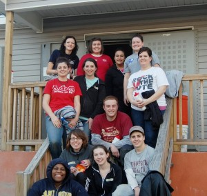 Canisius College graduate students doing service in New Orleans